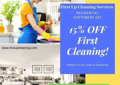 First-Up-Cleaning-Services-New-Customers-Get-15%-Off